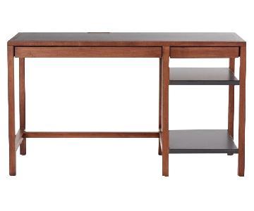 Rejuvenation Maple & Steel Desk