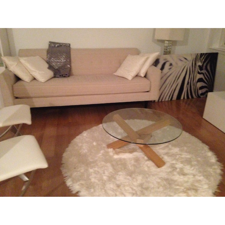 Design Within Reach White Bantam Sofa Aptdeco