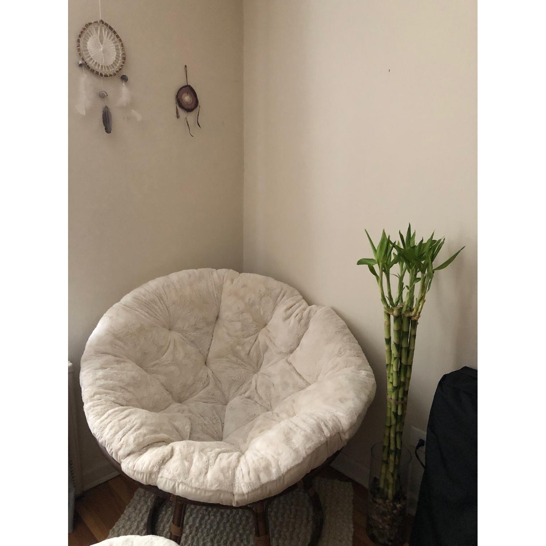 Enjoyable Pier 1 Natural Rattan Papasan Chair Ottoman Aptdeco Cjindustries Chair Design For Home Cjindustriesco