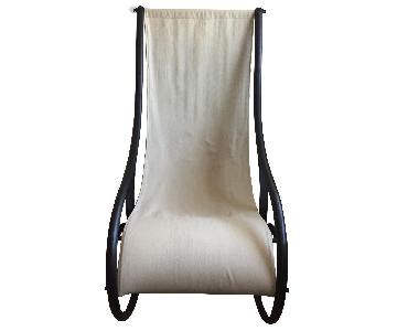 Restoration Hardware Iron & Canvas Rocking Chair