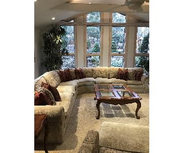 Drexel Heritage Custom Sectional Sofa w/ 2 Chaises