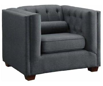 Charcoal Modern Tufted Accent Chair