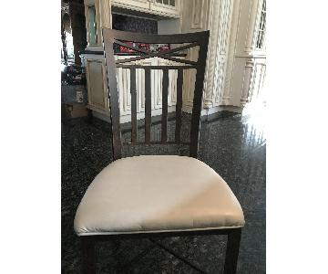 Macys Wrought Iron & Leather Chairs