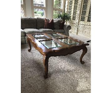 Drexel Heritage Coffee Table + End Table