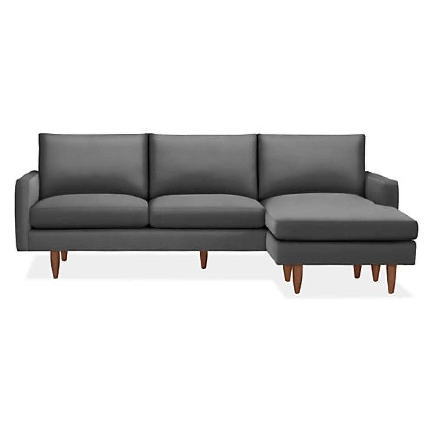 Room & Board Jasper 2-piece Sectional in Dark Grey