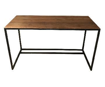 Crate & Barrel Steel & Reclaimed Wood Desk