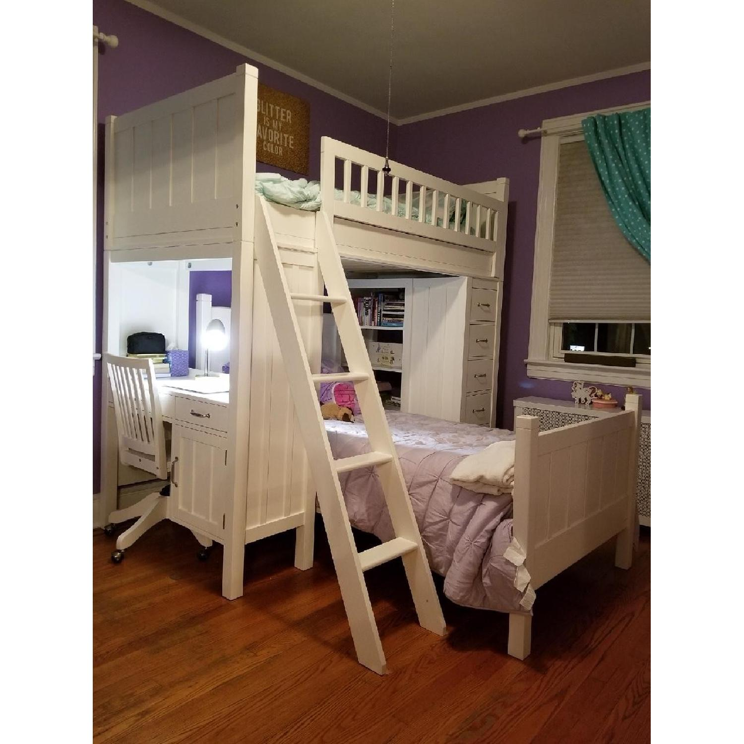 Pottery Barn Camp Twin Bunk & Twin Bed-1