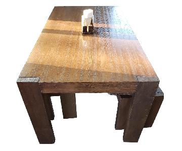 West Elm Farm Dining Table w/ 2 Benches
