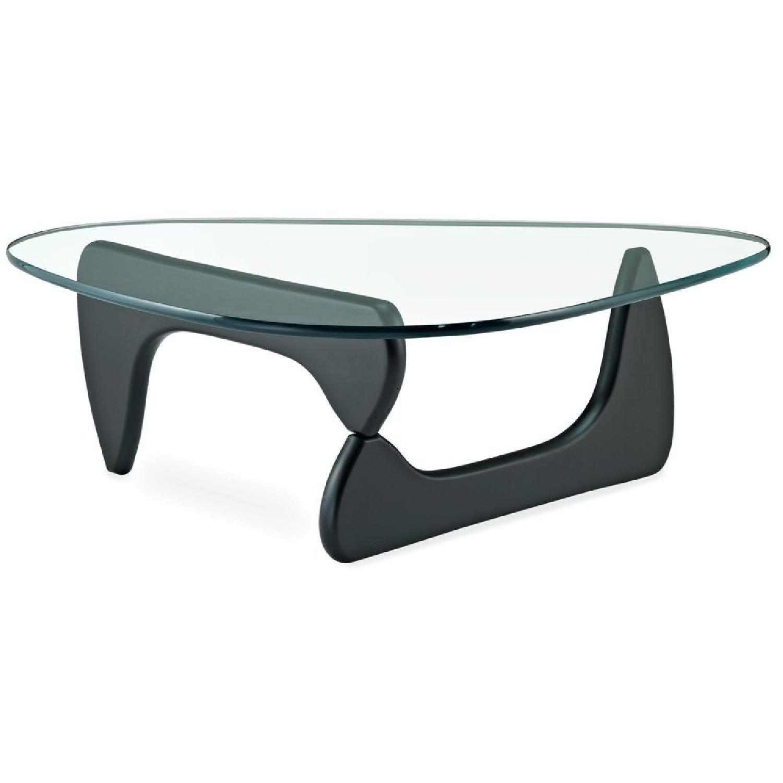 Noguchi Style Glass Coffee Table - image-0