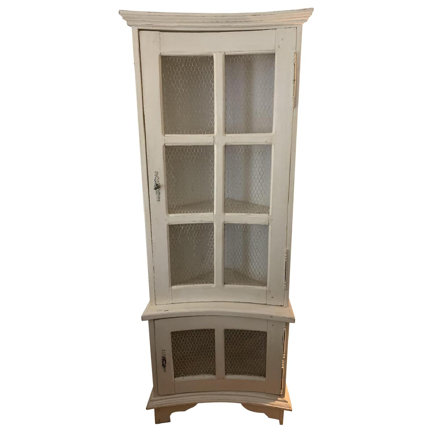 Celton Paris Shabby Chic Corner Armoire