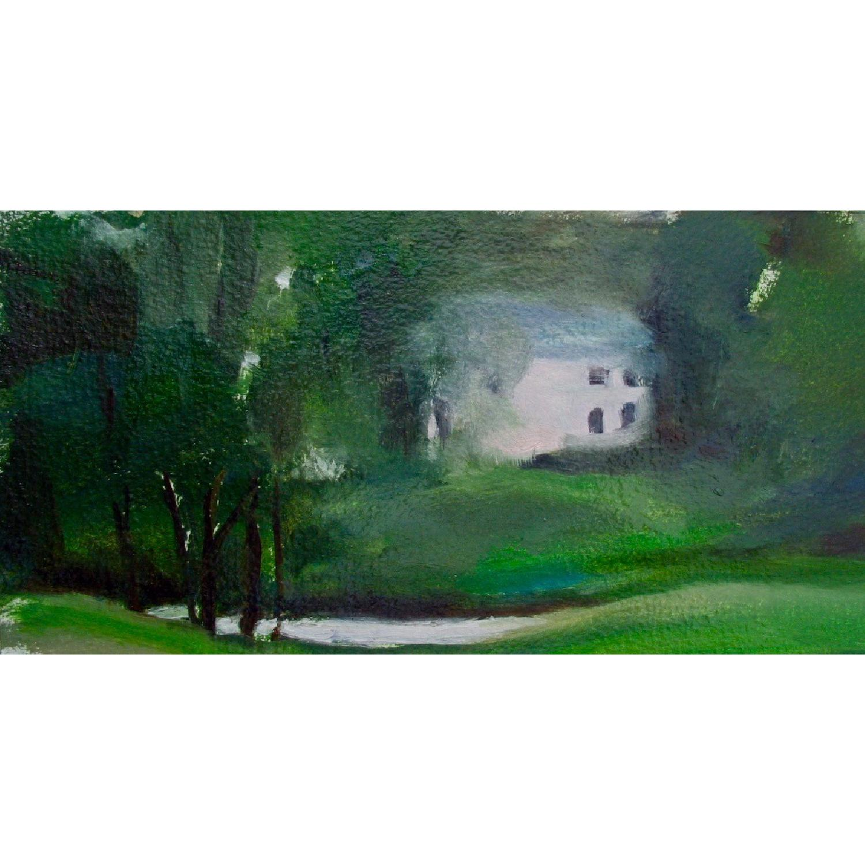 Oil Atmospheric Painting by Artist Geraldine Scalia