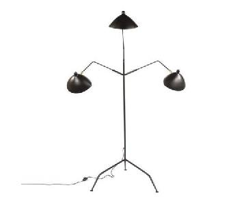 France and Son Serge Mouille MFL-3 Reproduction Floor Lamp