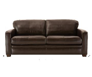 Raymour & Flanigan Trent Leather Sleeper Sofa