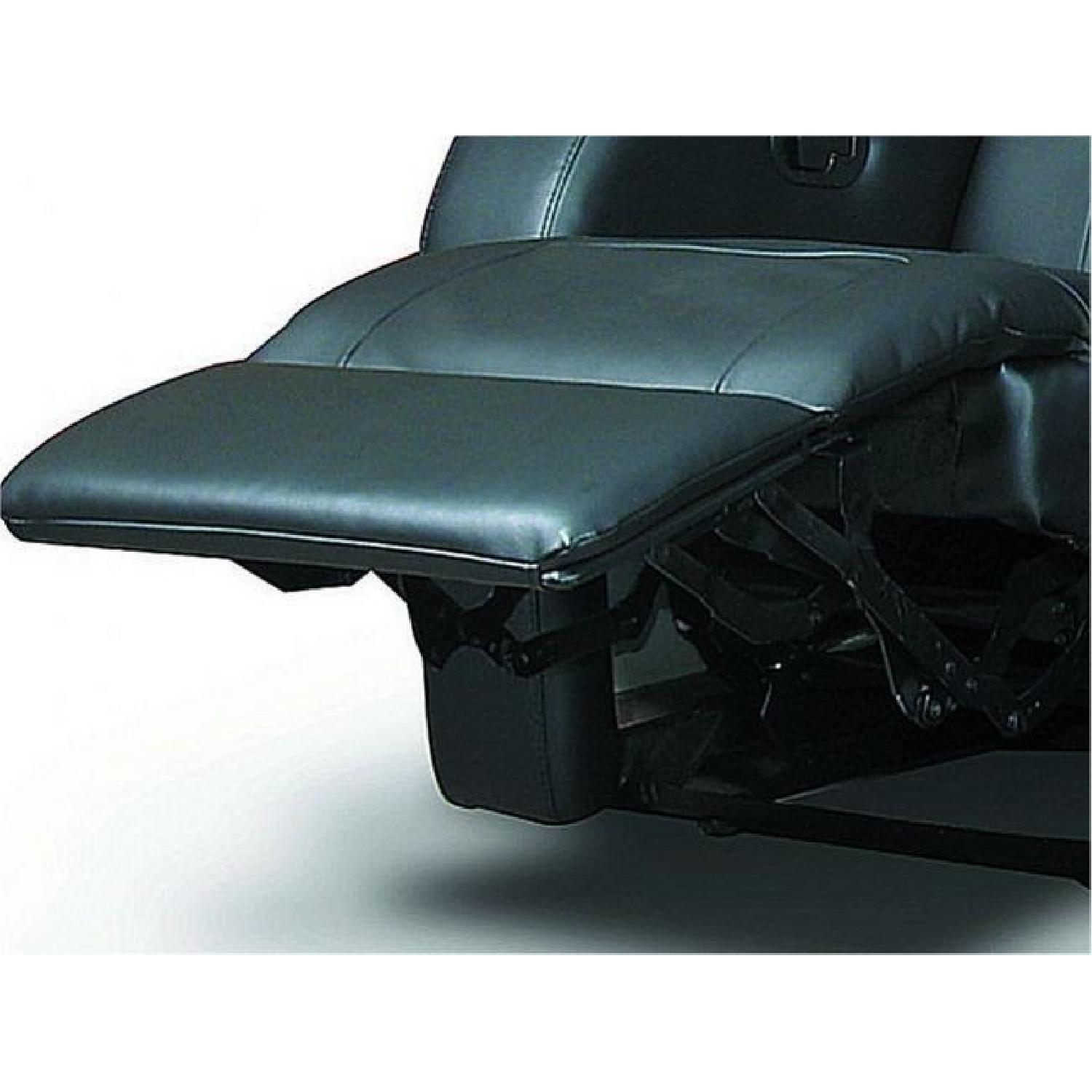 Recliner Chair in Black Leather Match w/ Cup-Holders-2