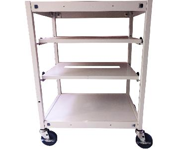 Bretford Manufacturing, Inc. Vintage Metal Stand/Bar Cart