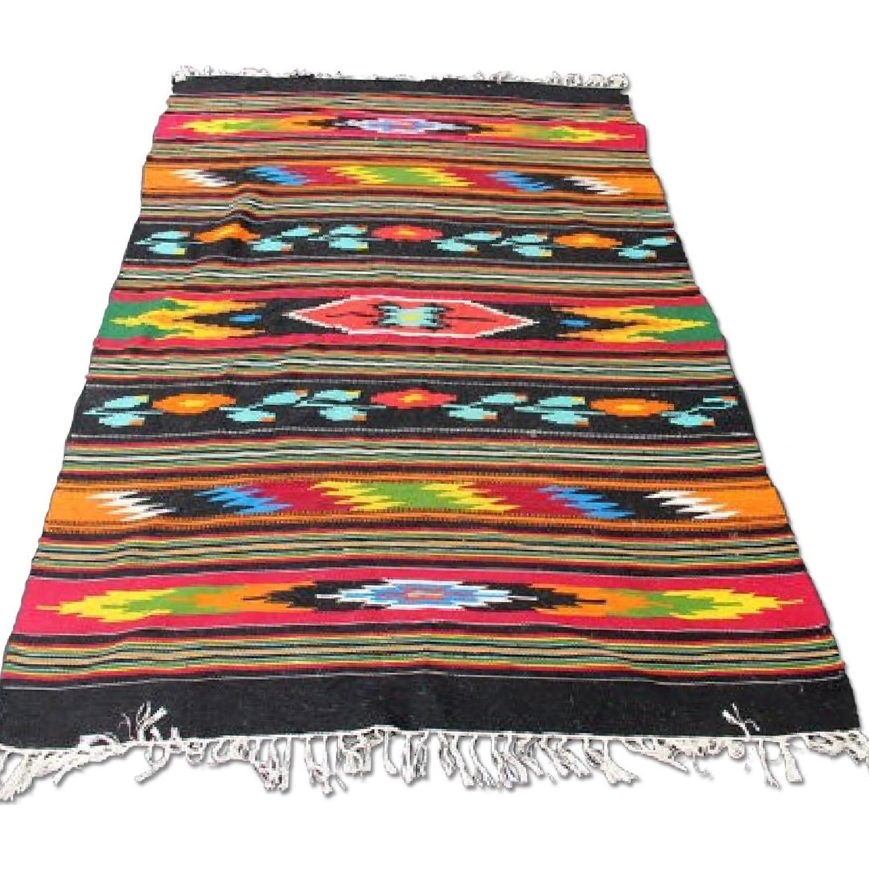 Southwestern Large Area Rug: Large Colorful Southwestern Rug/Blanket