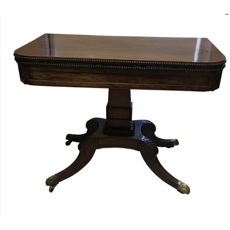 Antique Regency Style Flip Top Game Table