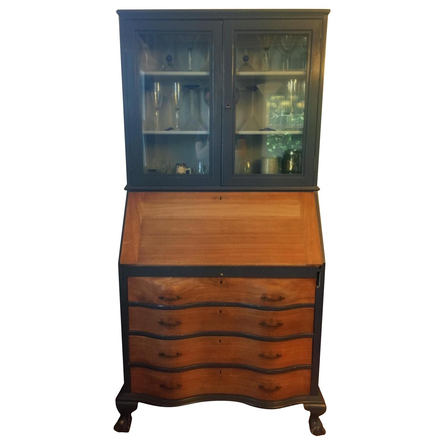 Antique Maddox Table Mahogany Secretary Desk