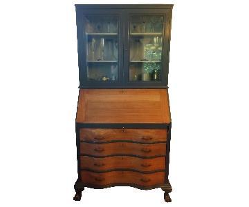 Antique Maddox Table Mahogany Secretary Desk