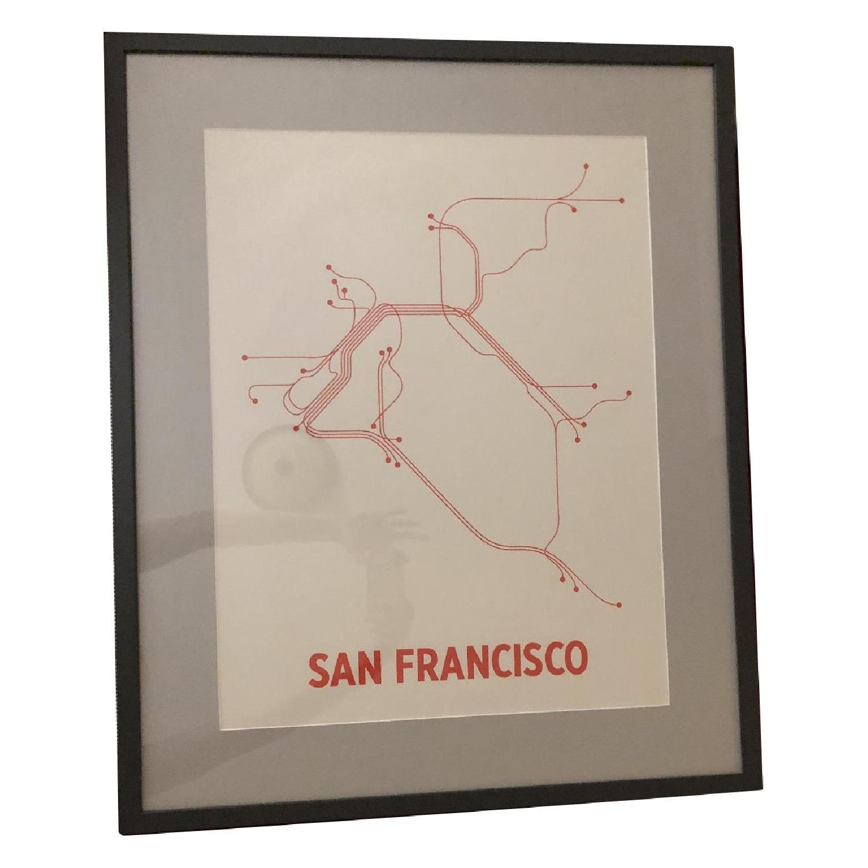 Framed San Francisco Transit Print