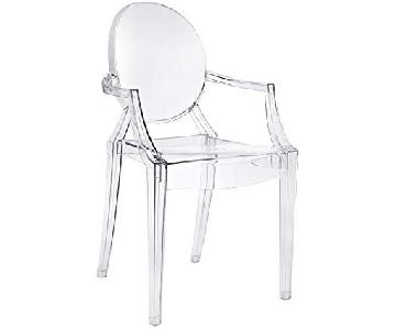 Lucite Chair w/ Arms