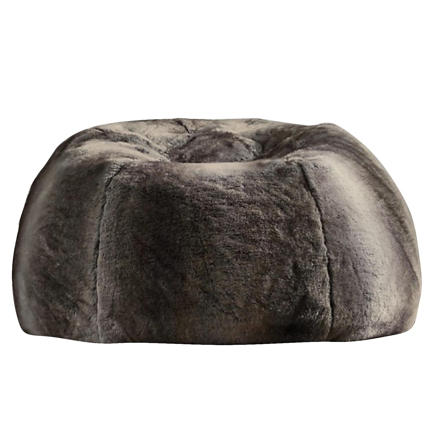Restoration Hardware Luxe Faux Fur Bean Bag Chair In Aptdeco