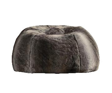 Restoration Hardware Luxe Faux Fur Bean Bag Chair in Mink