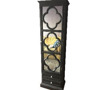 Vintage Mirrored Storage Tower