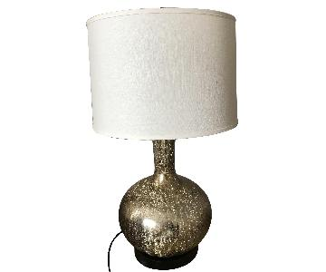 Safavieh Gold Glass Lamps w/ Ivory Shades