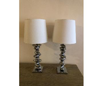 Searchlight Chrome Table Lamps