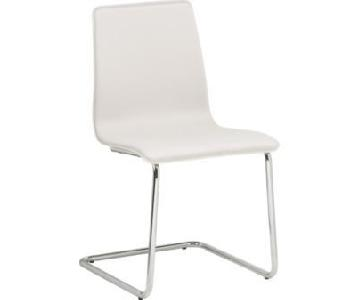 CB2 Pony White Dining Chairs