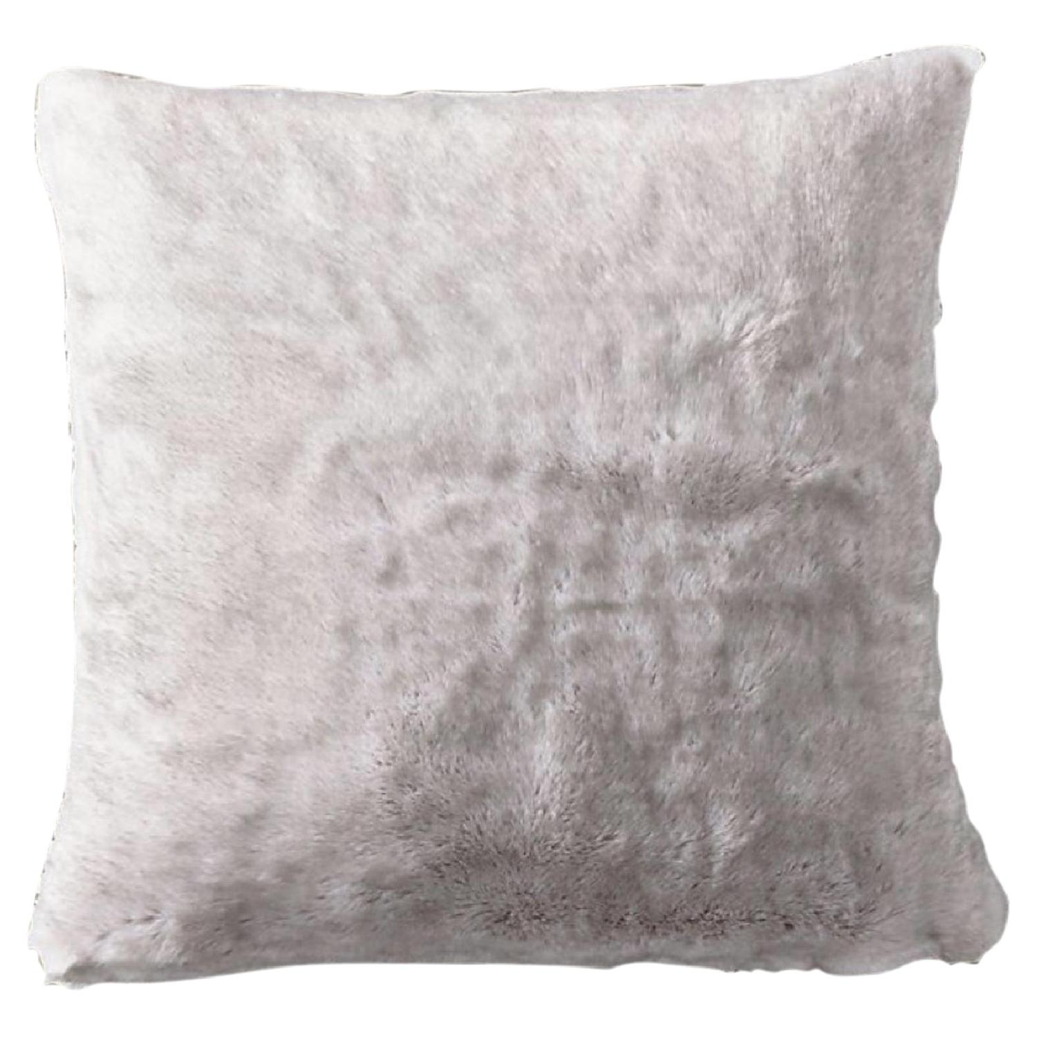 Restoration Hardware Luxe Faux Fur Throw + 2 Pillows