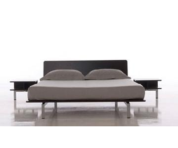 Cassina Xen Platform Bed w/ Attached Side Tables