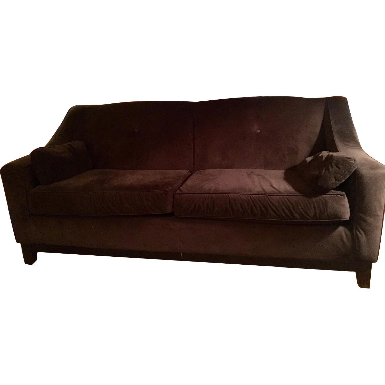 The Door Store Brown Suede Sofa