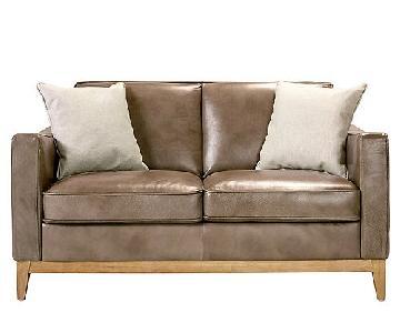 Raymour & Flanigan Berkley Leather Loveseat