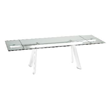 Naos Felix Extendable Glass Top Dining Table
