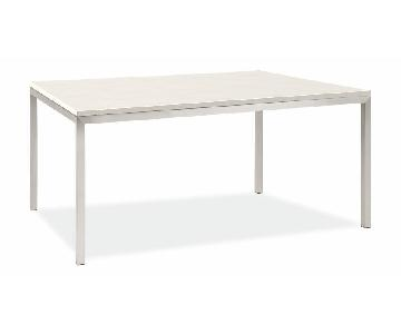 Room & Board Quartz Stainless Steel Dining Table