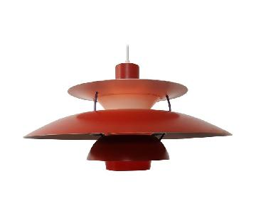 Louis Poulsen Poul Henningsen's PH5 Red Pendant Lamp