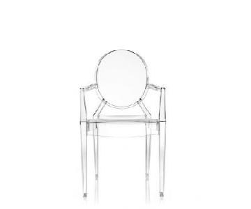 Kartell Louis Ghost Arm Chairs w/ Cushions