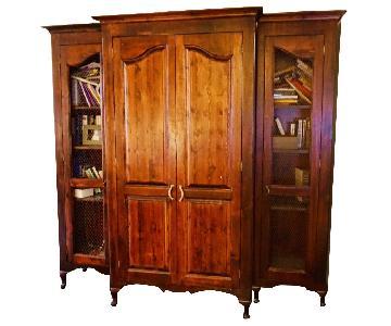 Handmade Wooden 3-Piece Armoire