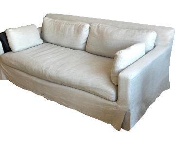 Restoration Hardware Belgian Track Arm Slipcovered Sofa