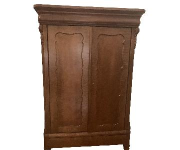 Wood Armoire in Cherry Wood Finish