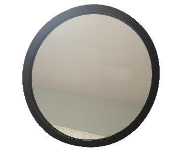 Restoration Hardware Round Wrought Iron Mirror