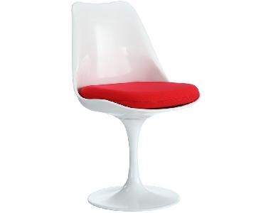 Manhattan Home Design Fabric Side Chair in Red