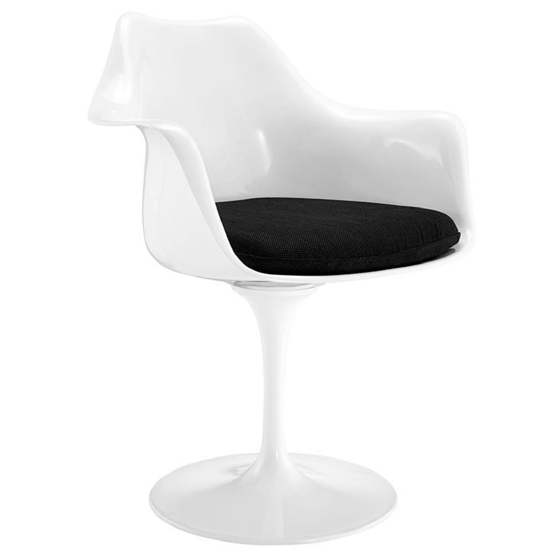 Manhattan Home Design Tulip Arm Dining Chair in Black