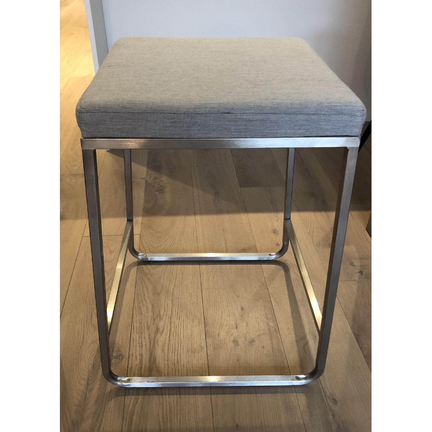 Room & Board Collins Low Stool in Canvas Fabric-0
