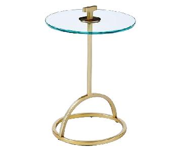 West Elm Modernist Handle Nesting Table in Glass