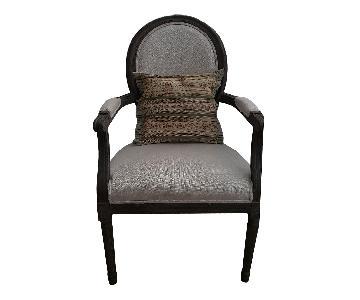 Restoration Hardware Vintage French Round Fabric Armchair