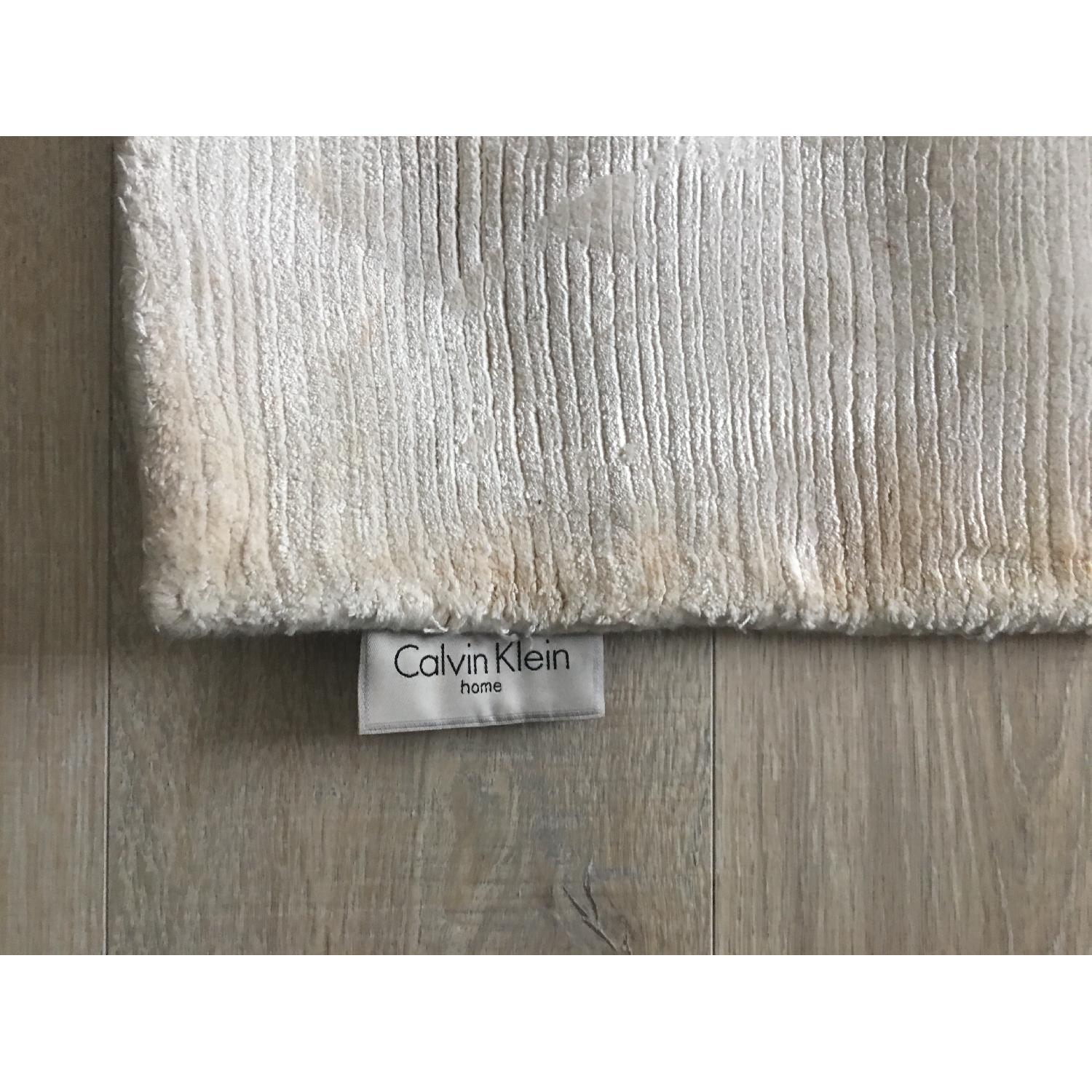 Calvin Klein Home Luminescent Rib Shell Beige Area Rug-0