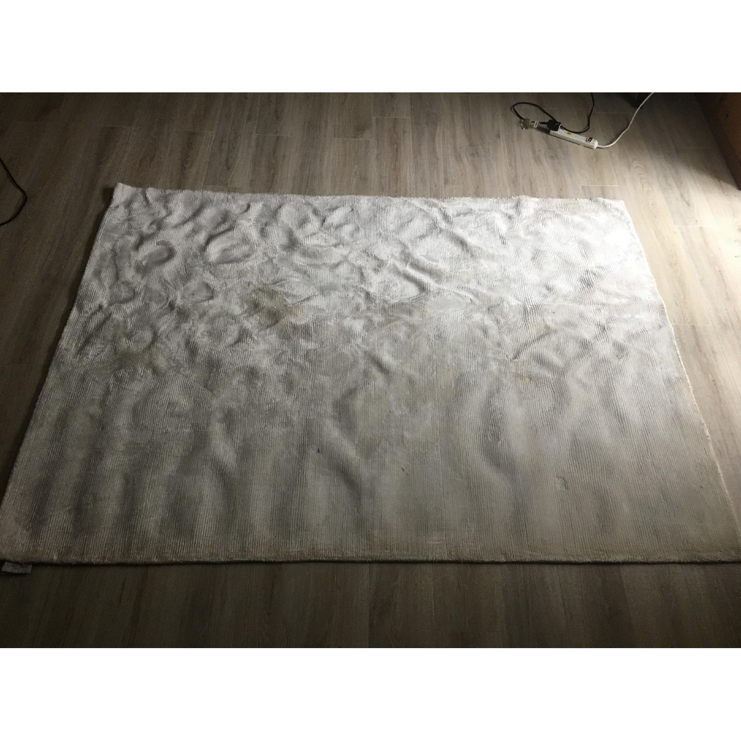 Calvin Klein Home Luminescent Rib Shell Beige Area Rug-1